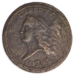 1793 Liberty Cap Half Cent - HEAD FACING LEFT - Circulated