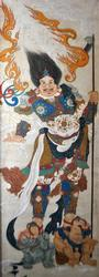 Rare Collectible Large Oriental Historic Mixed Media