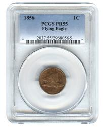 Investment Proof Flying Eagle Cent 1856 PR55 PCGS