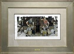 Original Signed Norman Rockwell Color Lithograph