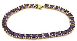 Wonderful Amethyst Line Bracelet