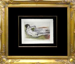 Edgar Degas Etching Circa 1936 from Danse Dessin
