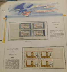 1960's Commemorative Stamps, 37 pages, $12.52 face