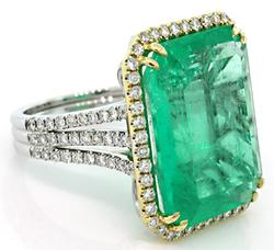 Most Amazing Emerald & Diamond Ring, Wow!