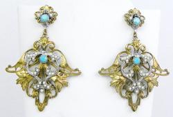 Very Ornate Designer Chandelier Earrings