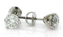 Luxurious 1.87 CTW Diamond Stud Earrings