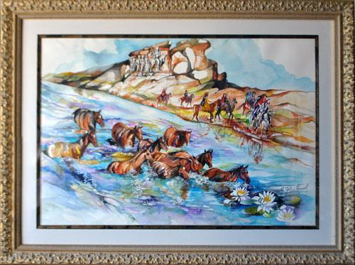 Simply Spectacular Mural Size Watercolor By Golestaneh