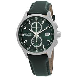 New Mens Nautica Green Chronograph