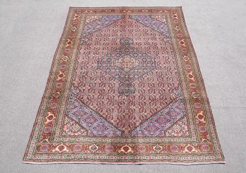 Semi Antique Persian Tabriz Mahi (Fish) Design 9.7x6.7
