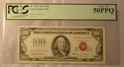 Red Seal Fowler $100 About new 50 PPQ U S Note