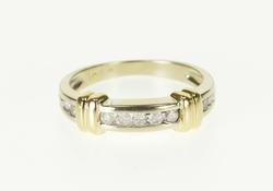 Diamond Channel Inset Wedding Band Ring