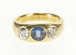 2.00 Ctw Blue White Diamond Engagement Ring