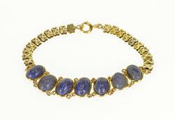 Oval Lapis Lazuli Cabochon Bracelet