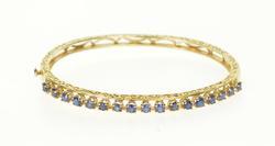 Very Elegant Gold Sapphire Bangle Bracelet