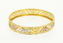 Very Intricate 22kt Gold Indian Cut Child's Bangle