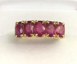 14kt Yellow Gold Ruby Band