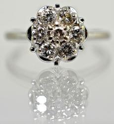 Classic Vintage Diamond Cluster, 14K