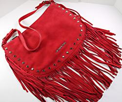Michael Kors Red Suede Purse with Fringe