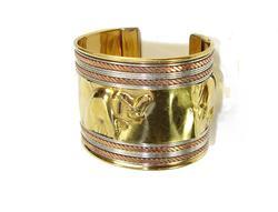 Luminus Ethnic Beautiful 3 Tone Handmade Cuff Bracelet