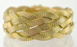 Impressively Wide Woven 18K Bracelet