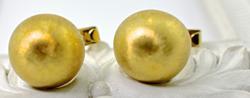 Gents Elegant Tasteful 18kt Yellow Gold Cufflinks
