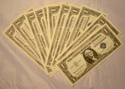 4 Each CU $1 Silver Certificates 1957 1957 A 1957 B