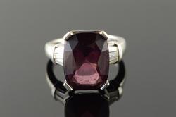 12.40 CT Rhodolite Garnet 0.60 CTW Diamond Designer Ring