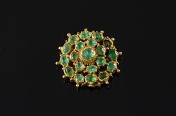 Victorian 10.00 CTW Emerald Cluster Clasp Pendant