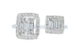 Unique Design 18kt Gold Diamond Ring