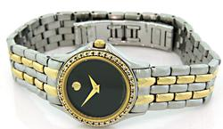 Movado Ladies Two Tone Watch with Diamonds