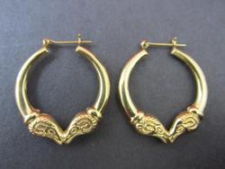 Ram Design Ladies 14kt Gold Hoop Earrings