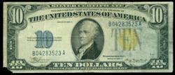Series of 1934-A $10 North Africa Silver Certificate