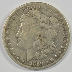 The Rare 1889-CC Morgan Silver Dollar. Nice circulated
