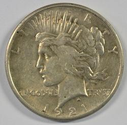Much nicer 1921 Peace Silver Dollar. Scarce key date