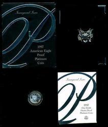 1997-W Gem Ultra Cameo Proof $10 Platinum Eagle Box/COA