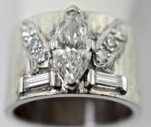 Mega Bling Big Marquise Diamond Band