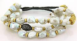 Triple Strand Freshwater Pearl Bracelet