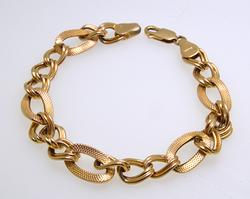 14kt Yellow Gold Oval Link Bracelet