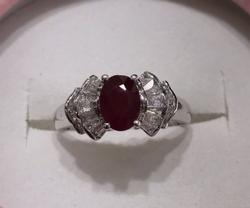 14kt Gold Ruby & Diamond Cocktail Ring