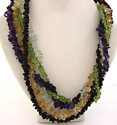 Multi Gemstone Strand Necklace