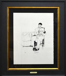 Rare Rockwell Hand Signed Original Lithograph