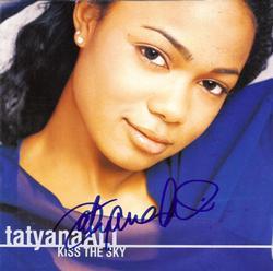 Tatanya Ali Signed Kiss The Sky CD Cover