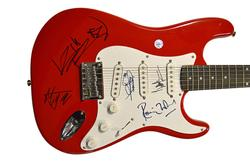 The Rolling Stones x5 Signed Guitar Mick Jagger plus