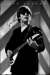 Beatles John Lennon Signed Facsimile Smoking Poster