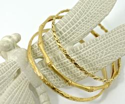 Excellent Group of 3 14K Slip-On Bangles