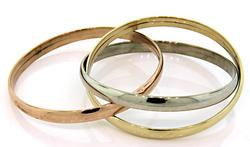 High Style Interlocking Triple Gold Bangles