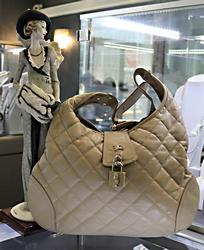Burberry Quilted Leather Hobo Purse