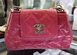 Chanel Coco Shine Accordion Pink Patent Purse