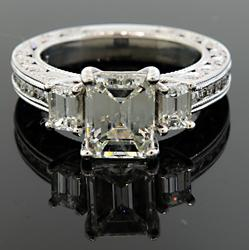 Extremely Fine Multi Diamond Ring with VS Center