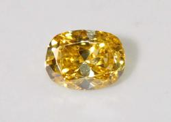 Fancy Yellow Diamond Cushion Antique - 0.33 ct.